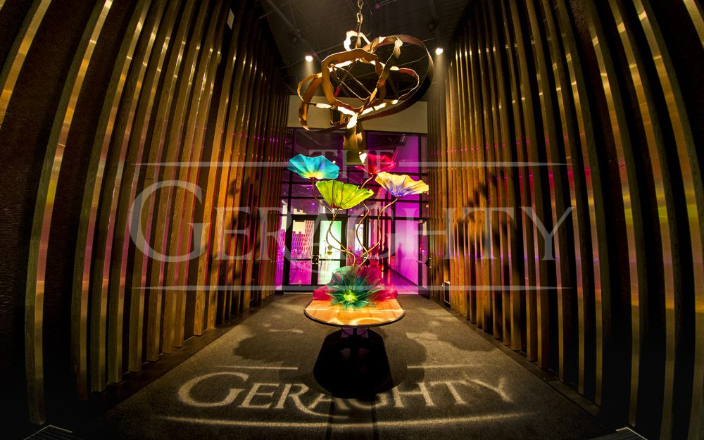 The Geraghty, Corporate Event, Venue, venue of possibilities, pop art inspiration, lasers, technical production, contemporary event decor, event design, event decor, chicago event decor,